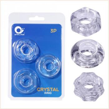 Anillos, Extensiones, Fundas Set de Anillos para Pene Cristal