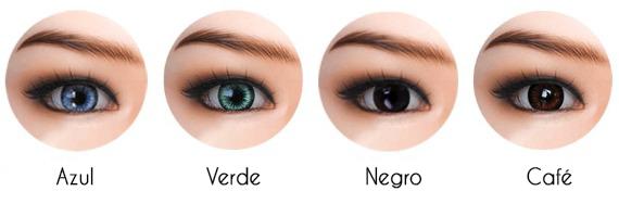 color de ojos